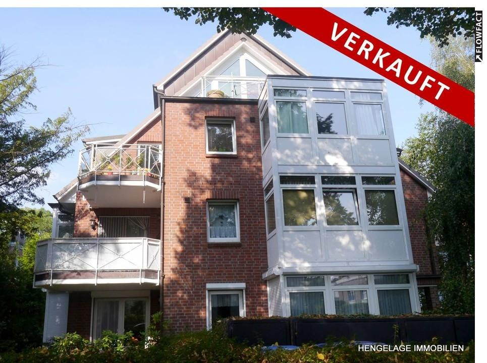 VERKAUFT :: TOP Lage in HH Volksdorf  ::  Grün - Ruhig - Zentral  ::  Vermietete 3 Zi - ETW mit Balkon und TG